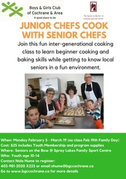 Jr Chefs Cook With Seniors